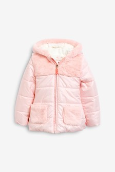 Billieblush Pink Faux Fur Jacket