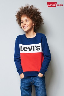 Levi's® Kids Navy/Red Colourblock Sweater