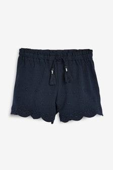 Pantaloni scurți brodați (3 luni - 7 ani)