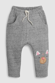 Cat Embroidered Joggers (3mths-6yrs)