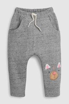 Pantalons de jogging brodé à motif chat (3 mois - 6 ans)