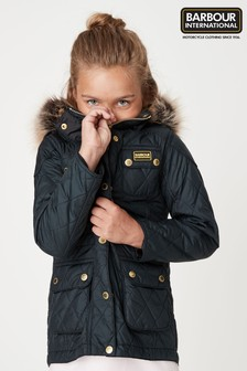 Barbour® International Black Enduro Quilt Coat