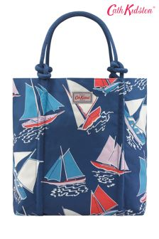 Cath Kidston® Blue Whitby Waters Rope Knot Tote Bag