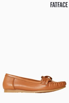 FatFace Brown Knot Detail Moccasin
