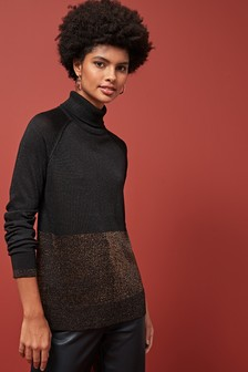 Sparkle Funnel Neck Jumper