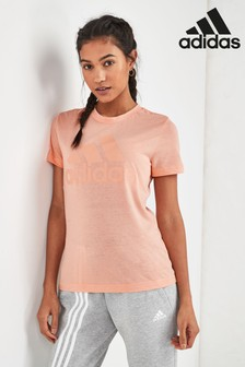 adidas Must Have Pink Badge of Sport Tee