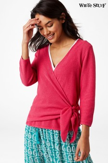 White Stuff Pink Tropics Wrap Jumper