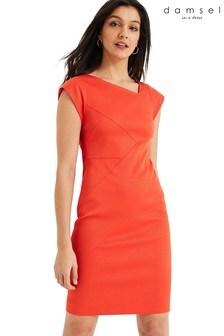 Damsel In A Dress Orange Cassy Fitted Dress