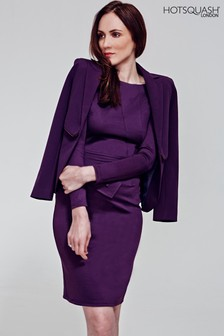HotSquash Damson Fitzrovia Ponte Dress