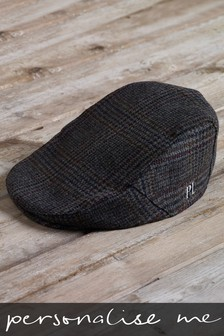 Personalised Check Flat Cap