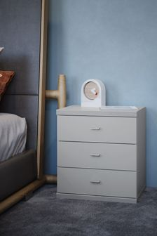 Peyton 3 Drawer Bedside Table