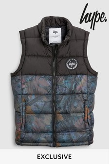 Hype. Black Leaves Gilet