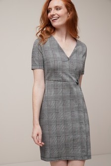 Jacquard Wrap Dress