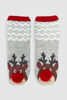 Reindeer Slipper Socks (Younger)