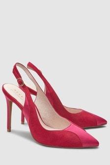 Коллекционные туфли с открытой пяткой и ремешком