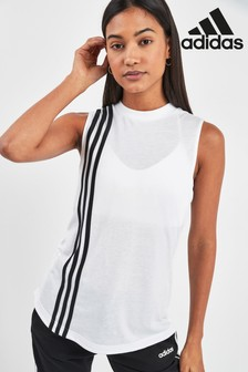 adidas Must Have Black 3 Stripe Tank