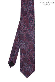 Ted Baker Purple Giftz Paisley Tie