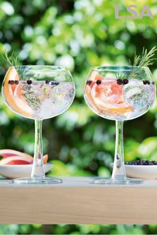 Set of 2 LSA International Gin Cocktail Glasses