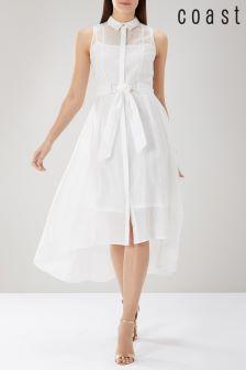 Coast White Giorgia Shirt Dress