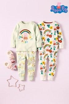 2 Pack Peppa Pig™ Rainbow Sequin Snuggle Pyjamas (9mths-6yrs)