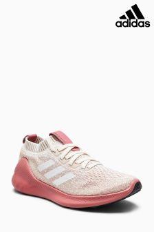 Кремовые/розовые кроссовки adidas PureBounce