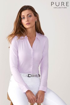 Pure Collection Pink Jersey Blouse