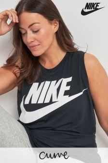 Черная майка свободного кроя Nike Essential