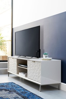 Mode  White Gloss Wide TV Stand