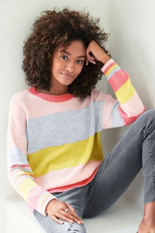 1a56670e77 Stripe Crew Neck Jumper