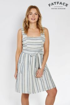 FatFace Chambray Serena Stripe Dress