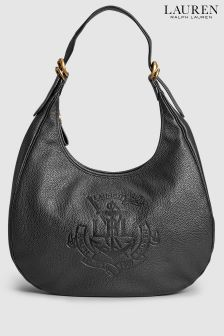 Lauren Ralph Lauren Black Huntley Hobo Shoulder Bag