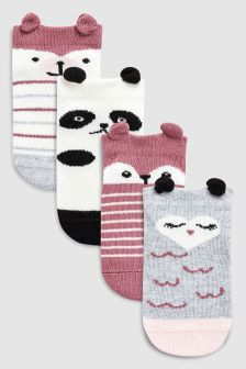 Trainer Socks Four Pack (Younger)