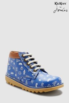 Kickers® Joules Blue Print Kick Hi Boot