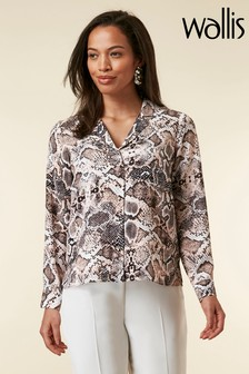 Wallis Blush Snake Print Shirt