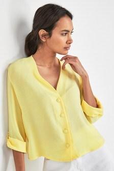 Блузка свободного кроя на пуговицах