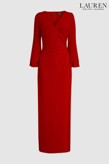 Lauren by Ralph Lauren Red Evening Dress