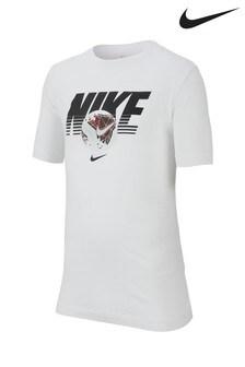 Nike White Football T-Shirt