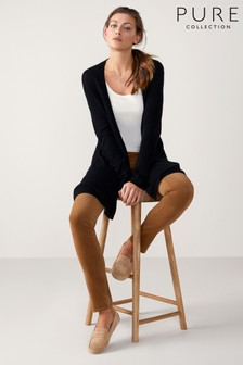 Pure Collection Black Gassato Swing Cardigan