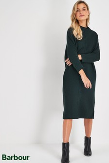 Barbour® Tartan Khaki Merino Wool Bute Dress