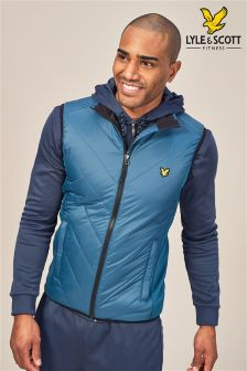 Lyle & Scott Sport Blue Brandon Chevron Gilet