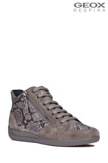 Geox Myria Grey Mid-Cut Trainers