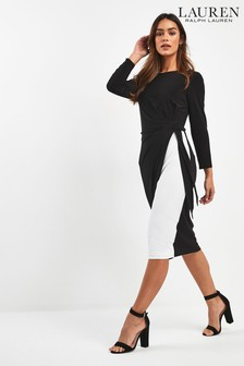 Lauren Ralph Lauren Black Mono Robbyann Dress