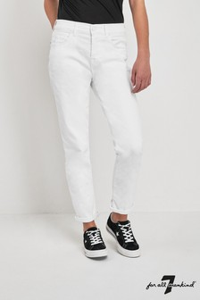 7 For All Mankind® White Slim Relaxed Jean