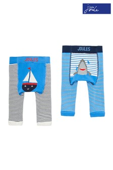 Joules Blue Lively Character Leggings Two Pack