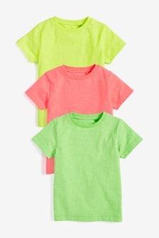 Набор из трех однотонных футболок (3 мес.-7 лет)
