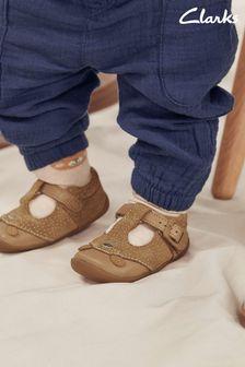 Clarks Tan Suede Roamer Cub T Shoes