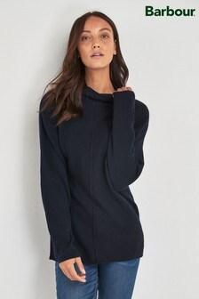 Barbour® Tartan Navy Merino Wool Bute Jumper