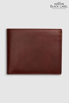 Signature Black Label Italian Leather Extra Capacity Bifold Wallet
