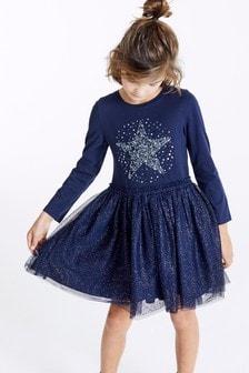 亮片綴飾星星圖案洋裝 (3-16歲)