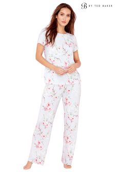 B by Ted Baker Blue Blossom Print Jersey Pant